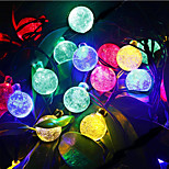 6M 30Led Crystal Ball String Light Solar Decoration Lights Waterproof Outdoor Garden Tree Fairy Lighting White Rgb
