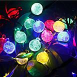 6m cristal 30LED chaîne de boule de fées illumination de l'arbre de jardin en plein air lumière solaire lumières de décoration imperméable