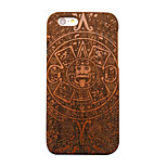 Pear Wooden Mysterious Totem Carving Protective Back Cover Hard iPhone Case for iPhone SE/iPhone 5S/iPhone 5