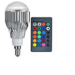 E14 85V-265V 600-800Lm 10W RGB Remote Control LED Colorful Bulbs