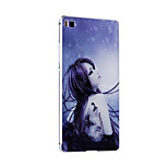 Metal Frame Protective Shell Hard  Painting for HUAWEI P8 (Silver Box + Tattoo Girl)