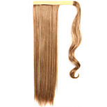 Golden 60CM Synthetic High Temperature Wire Wig Straight Hair Ponytail Color 12/613