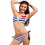 Women's Swimwear Quick Dry / Compression Bikinis Adjustable Blue S / M / L
