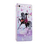 Metal Frame Protective Shell Hard  Painting for HUAWEI P8 (Pink Box + Riding Girl)