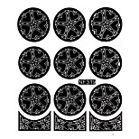 Nail Art Template Sticker-(NF319-Black)