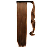 Brown 60CM Synthetic High Temperature Wire Wig Straight Hair Ponytail Color 4A/27A