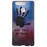 TPU Material Palm Black Slim Painted Soft cellphone Case for Huawei Ascend P9/P9 Lite