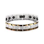 Unisex Jewelry Health Care White Ceramic Hematite Bracelet