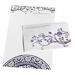le paquet d'enveloppe de porcelaine bleue et blanche (3 enveloppe +6 papier, modèle aléatoire)