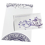 The blue and white porcelain envelope package (3 envelope +6 paper, random pattern)