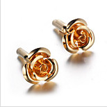 Men's Fashion Gold Flower Alloy French Shirt Cufflinks (1-Pair)