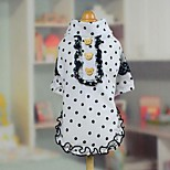 Sweety Dot Lace Pet Fleece Coat