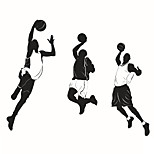 Wall Stickers Wall Decals Style Sports Basketball PVC Wall Stickers