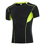 Running T-shirt Men's Quick Dry / Sweat-wicking Running Sports Sports Wear White / Gray / Blue