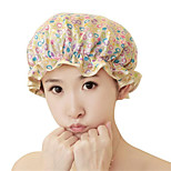Beautiful Printed Satin Fabric Woman Shower Caps (Random color)