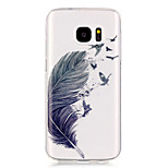 Feather Pattern High Permeability TPU Material Phone Case for Samsung S5/S6/S7/S6 edge/S7 edge