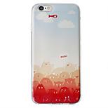 caso suave de TPU con el patrón de la impresión en 3D para iPhone 6 6s / iPhone / iPad 6s 6 más / iphone además gato rojo