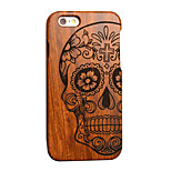Pear Wooden Skull Carving Protective Back Cover Hard iPhone Case for iPhone 5S/iPhone SE/iPhone 5