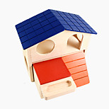 Hamster Double Cabin Small Pet Color House 1Piece