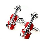 Men's Fashion Violin Style Alloy French Shirt Cufflinks (1-Pair)
