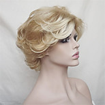 Europe And The United States Sell Lots of Middle-Aged And Old Short Blond Curls Wig 12 Inch