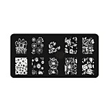 BlueZOO Ebay Blue Rectangle Nail Art Stamping (10)
