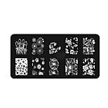BlueZOO Ebay Blue Rectangle Nail Art Stamping (10)