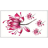 Fashion Temporary Tattoos Flower Sexy Body Art Waterproof Tattoo Stickers 5PCS (Size: 2.36'' by 4.13'')