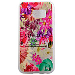 TPU Material Matte Border Flowers Super Relief Effect Phone Shell Protection for Samsung Galaxy S7/S7 edge
