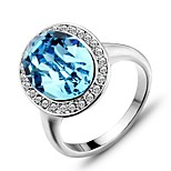 2016 Noble Austria Rhinestone Luxurious Silver Party Ring For Women