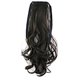 Borwn Length 50CM Factory Direct Sale Bind Type Curl Horsetail Hair Ponytail(Color 6B)