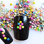 1 Pack Include 7 Mixed Colors Nail Art Round Glitter Riveting DIY Nail Art Decoration NC220