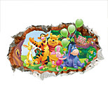 Winnie The Pooh Friends Wall Stickers For Kids Rooms Nursery Wall Stickers Trumpet Decorative Stickers  Pooh And Tigger