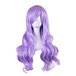 Dolly Style Cheap Cosplay Wigs Sexy Synthetic Perruque Lolita Anime Wig light Purple Hair Wigs 70cm Long Wavy Peruk