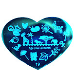 BlueZOO Love Blue Nail Art Stamping (19)