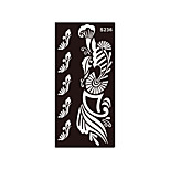 1pc Temporary Tattoo Henna Flower Stencil Body Art Tattoo Sticker Airbrush Printing  Makeup Charm S236