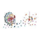 Wall Stickers Wall Decals Style Creative Skeleton Head PVC Wall Stickers