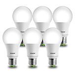 IENON® 6 pcs 9W E26/E27 LED Globe Bulbs A60(A19) 1 COB 850-900 lm Cool White Decorative AC 100-240 V