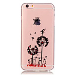 TPU Dandelion Pattern Transparent Soft Back Case for iPhone 6s 6 Plus