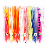 10 pc Esche morbide / Octopus / Jerkbaits Colori casuali 7 g/1/4 Oncia,12/14/18 mm/4-3/4