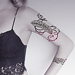 Fashion Large Temporary Tattoos Feather Sexy Body Art Waterproof Tattoo Stickers 2PCS  (Size: 5.71'' by 8.27'')