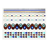 Abstract Europe Noctilucent Metal Blue Face Sticker Y001