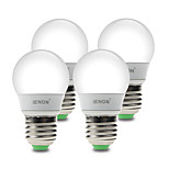 3W E26/E27 Lâmpada Redonda LED G60 6 SMD 210-240 lm Branco Quente / Branco Frio Decorativa AC 100-240 V 4 pçs