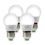 3W E26/E27 Lampadine globo LED G60 6 SMD 210-240 lm Bianco caldo / Luce fredda Decorativo AC 100-240 V 4 pezzi