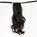 Water Wave Brown Black Synthetic Bandage Type Hair Wig Ponytail(Color 6B)