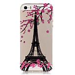 caso trasero transparente suave TPU Eiffel patrón de la torre para el iphone del SE 5s 5