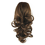 Length Brown Wig 36CM Synthetic Curly High Temperature Wire Tying Contract Type Horsetail Color 2/33