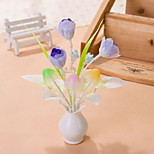 Creative Changeable Color  Blue Flower Light Sensor Night Light