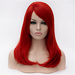 The New  Wig  Red Partial Share Button in 16 Inch Long Hair Wigs