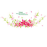 Wedding Room Colorful Lily Flower Wall Stickers PVC Living Room Wall Decals